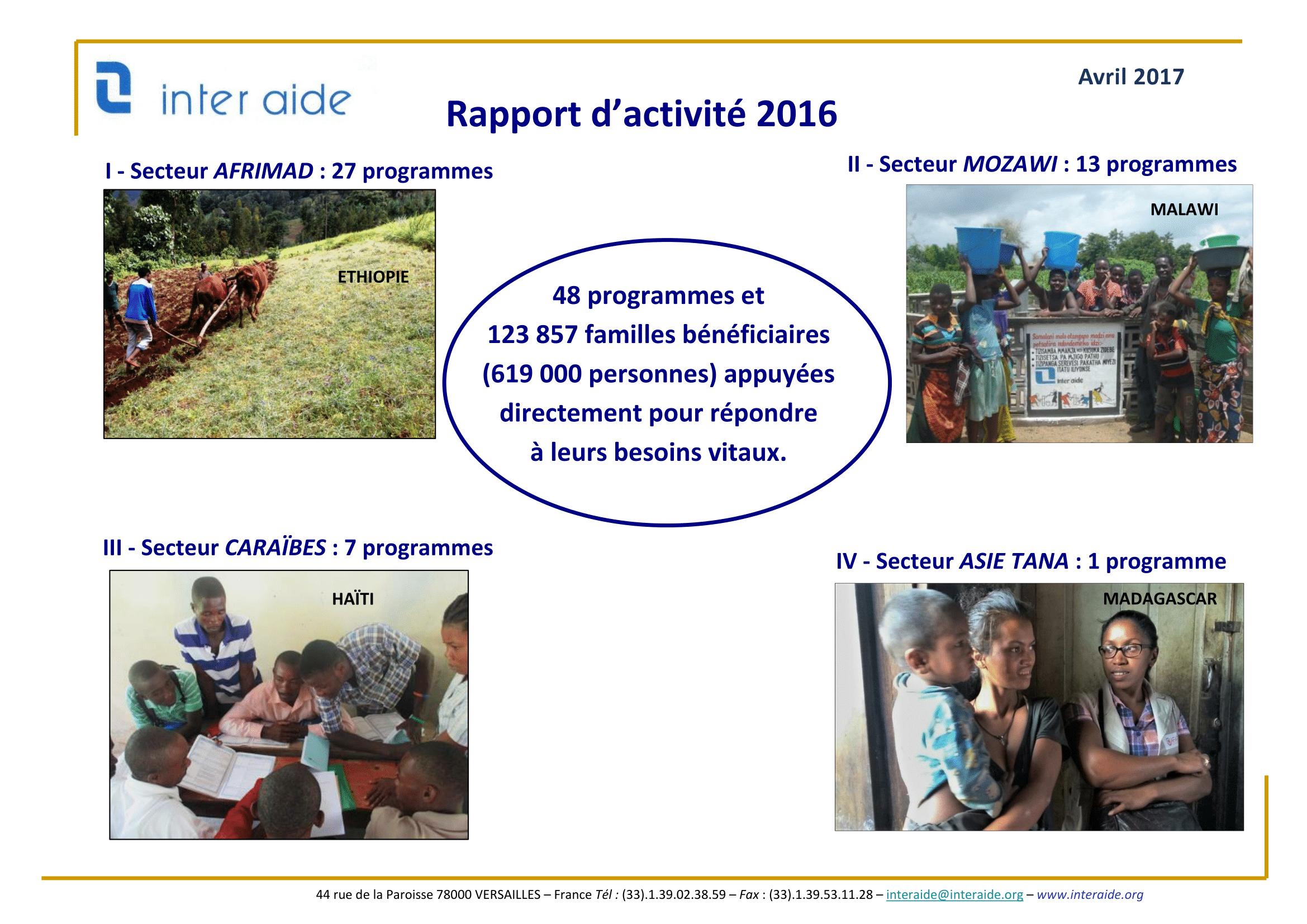 Rapport d'Activité Inter Aide 2016-01
